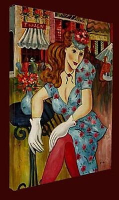 Figures & Portraits Oil Painting  - Tranquility - size 24x30 Ready to hang