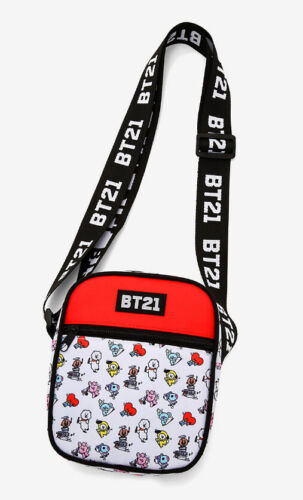 BT21 Group Doodle Athletic Crossbody Bag New with Tag!