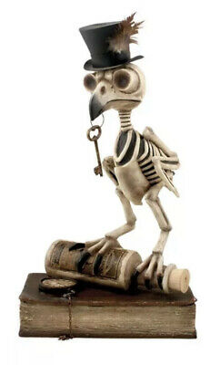 Bethany Lowe Halloween Skeleton Grimoire Owl—retired