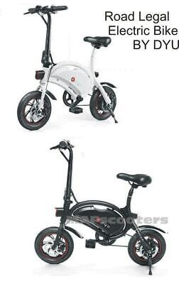 DYU D4+  VIP Electric Bike 10.4 Lithium Battery High spec Road Legal e scooter