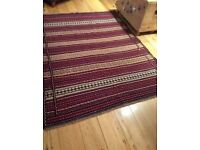Kilim Rug - floor rug, red, great condition, living room, bedroom
