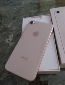 iPhone 8-64gb-Rose Gold -Unlocked-Mint Condition-Works Great