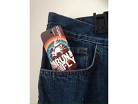 BNWT Run & Fly retro vintage bell bottoms blue stonewash jeans