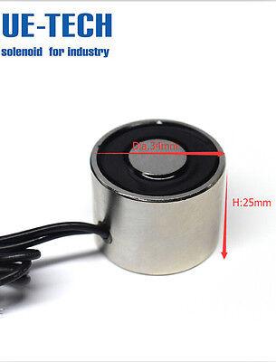 Dc12v 50lb Holding Electric Magnet 22kg Holding Solenoid Electromagnet Ue-3425
