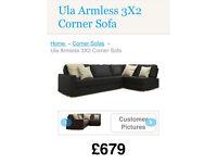 Nabru corner leather sofa
