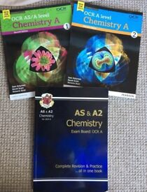 OCR A level Chemistry A textbook bundle- year 1, year 2, revision guide
