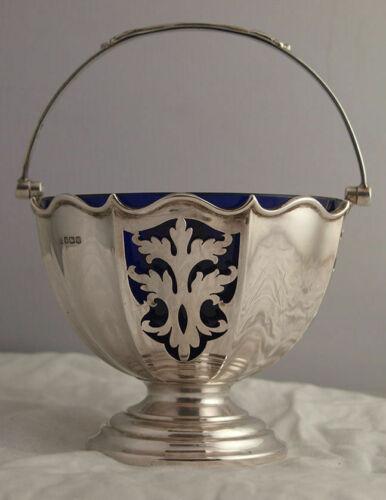 Fine George V Solid Silver Sugar Basket - 189g - Sheffield 1927.