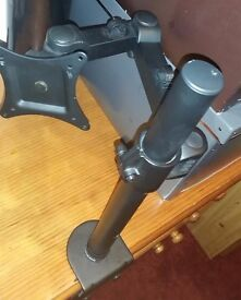 Duronic Desktop Desk mount Arm Monitor Stand bracket with adjustability for LCD Monitor or TV