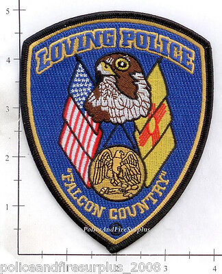 New Mexico - Loving NM Police Dept Patch - Falcon Country