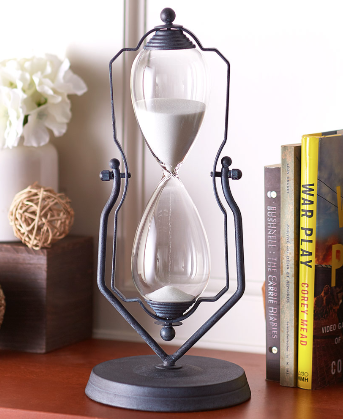 hourglass timer one hour swivel stand kitchen