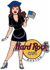 Hard-Rock-Cafe-BOSTON-2003-GIRL-of-ROCK-SERIES-PIN-GOR-2-Black-Uniform-16950