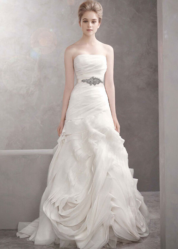 Vera Wang Organza Fit and Flare Model VW35101