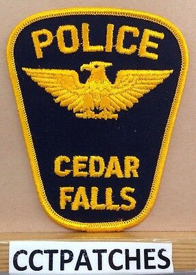 CEDAR FALLS, IOWA POLICE SHOULDER PATCH IA