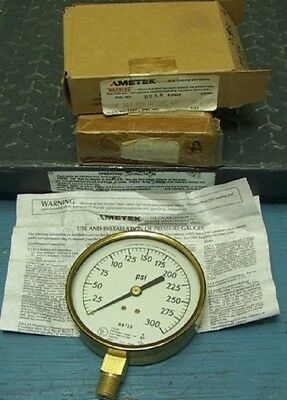 2x 300psi Ametek Water Gauges 3.5 Fire Protection Serv