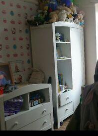 kids white wardrobe, dismantled ready to go