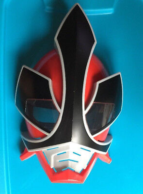 Red-Power-Ranger-Samarai-Mask-Pretend-Play-Costume-Accessory-Bandai-2011-Ages-4+ (Red Power Ranger Mask)
