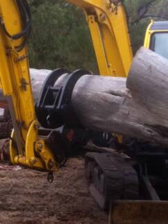 Excavator Rock - Stone Grab Rigid Mount up to 7T, Pendulum 10T Melbourne CBD Melbourne City Preview