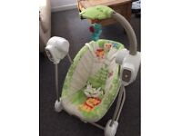 Baby swing seat space Saver