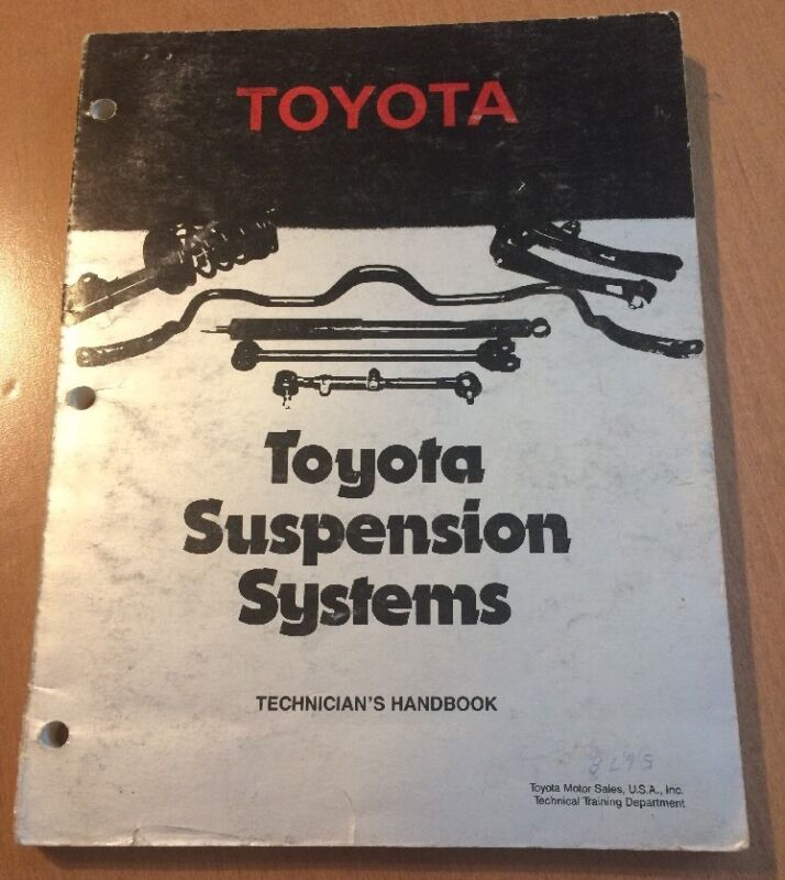 Toyota Suspension Systems Technicians Handbook from 1987