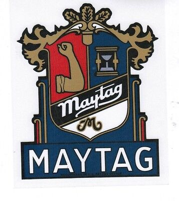 Maytag Crest Model 98 82 72 Gas Engine Motor Washing Machine Hit Miss Decal