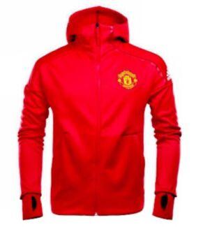 Rare! Authentic Adidas Manchester United ZNE Jacket Hoodie Sz Medium