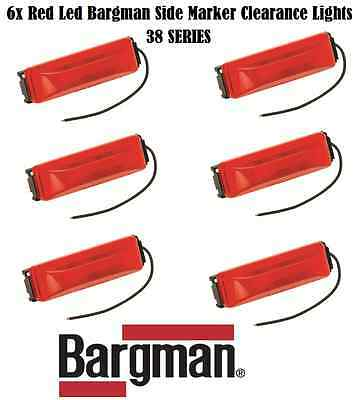6X BARGMAN LED CLEARANCE SIDE MARKER LIGHT #38 SERIES RED TRUCK TRAILER NEW