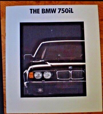 BMW 750i Sales Brochure; 1990; USA