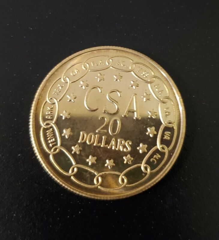 Confederate Gold Coin Restrike 💰 CSA Double Eagle B.U. 1861 Reproduction