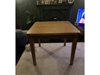 Solid Oak Dining Table and 2 Chairs