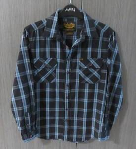 INDUSTRIE BOYS SIZE 12 BLUES/BLACK COLLARED LONG SLEEVE SHIRT Barnsley Lake Macquarie Area Preview
