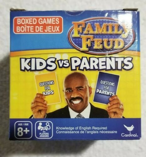 Family Feud Trivia Box Card Game- Kids Vs Parents  BRAND NEW!