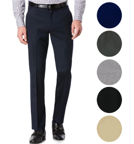 TM Exposure Men's Premium Slim Fit Dress Pants Slacks Flat F