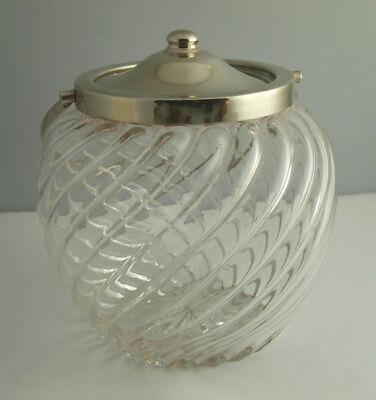 Handsome Antique Silver Plated Biscuit Barrel