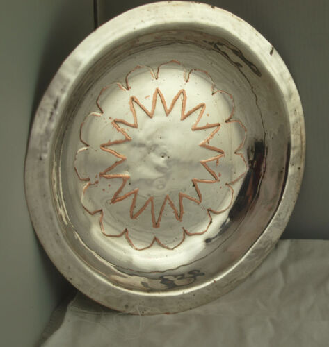 Hand Made Arts & Crafts Silver Plated Dish