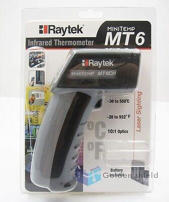 Raytek Mt6 Infrared Mini Temp Laser Thermometer Ir Gun -30 To 500 Brand New