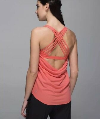 NEW Lululemon Wild Tank Atomic Red Atomic Flower Parfait Pink Size 6