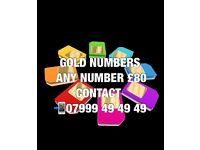 GOLD VIP MOBILE NUMBERS £80
