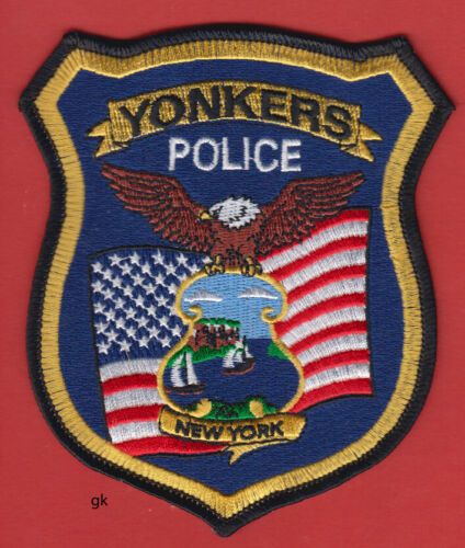 YONKERS  POLICE SHOULDER  PATCH  (FLAG)