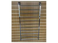 11 TIER SLATWALL ALL CHROME GIFT WRAP PAPER DISPLAY UNIT