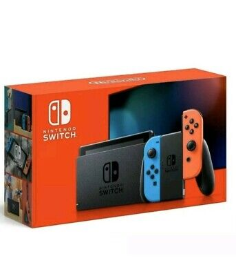 Nintendo Switch Console with Neon Red / Neon Blue Joy‑Con 32GB HAC-001(-01). New