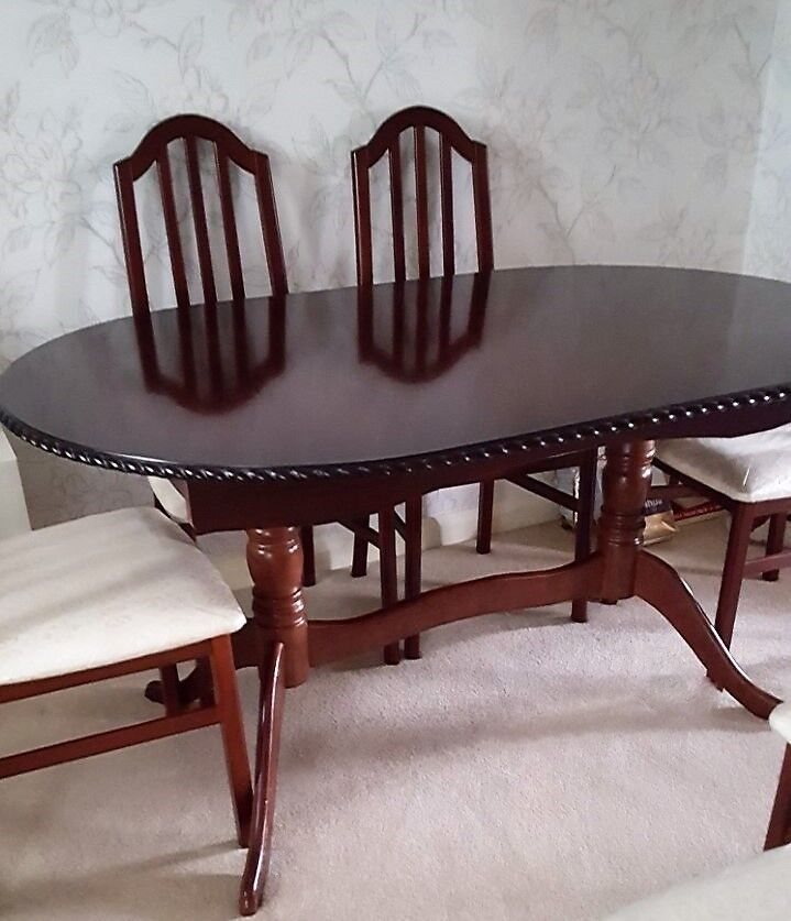6 Seat Extendable Dining Room Table Chairs