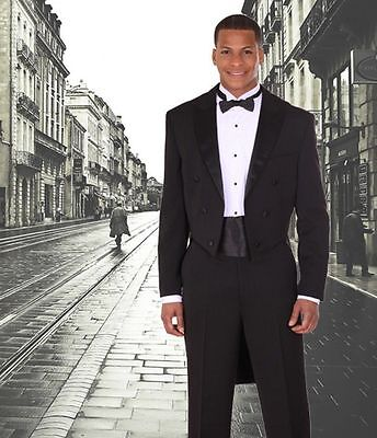 New Tuxedo suit with Tail, black by Milano Moda - Tux With Tails