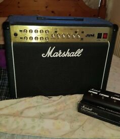 Marshall JVM215c combo valve guitar amplifier and foot controller
