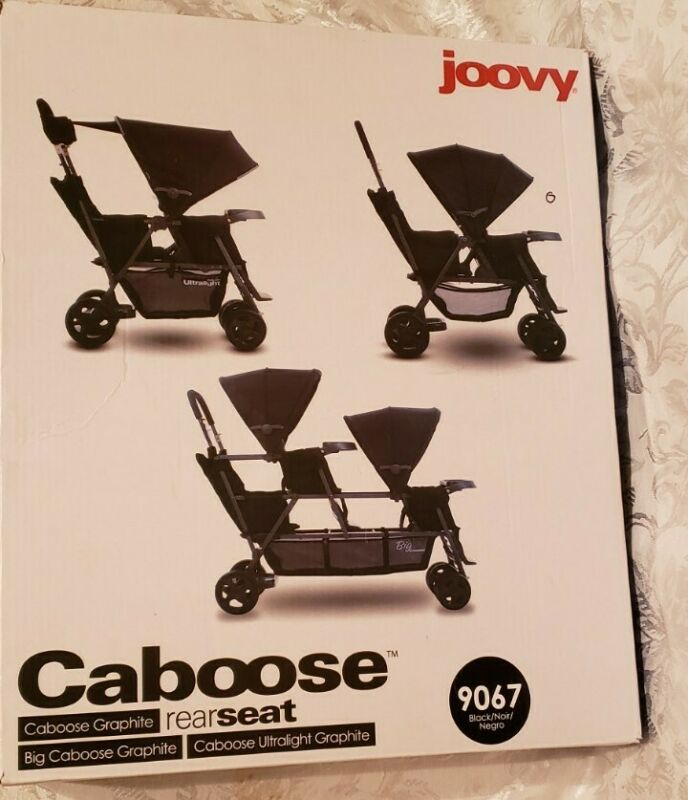 Joovy Caboose Rear Seat 9067 Black New In Sealed Box