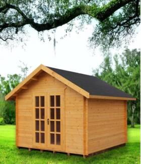 wooden outdoor garden shed or studio