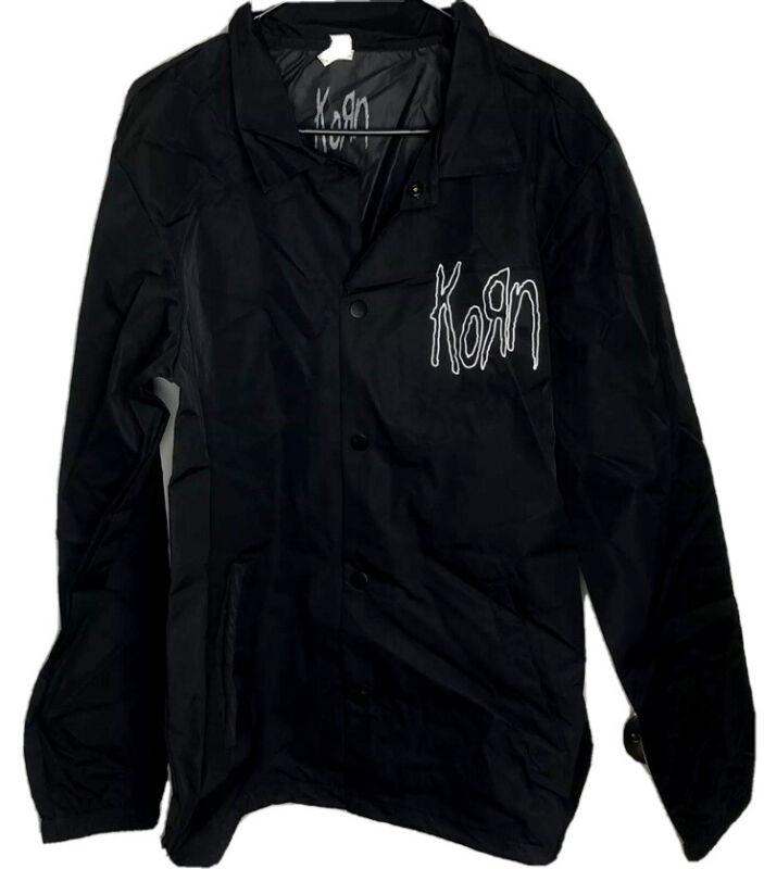 New Limited Edtn KORN Black Windbreaker Tour Band Metal Jacket READ Unisex READ