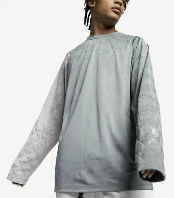 Nike x A-Cold-Wall ACW Mens Long Sleeve Shirt Cool Grey AQ0433-065 NWT Sz XS