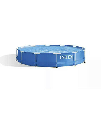 """Intex 12' x 30"""" Metal Frame Round Above Ground Swimming Pool w/ Filter Pump NEW"""