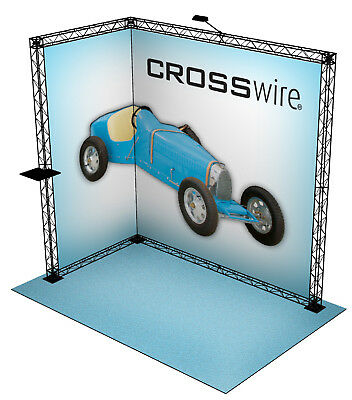 Crosswire Exhibits 10x8 Booth Display Trade Show Pop-up