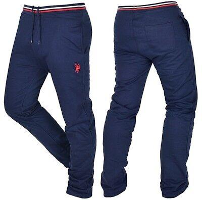 US POLO Herren Jogginghose Sweat Hose Slim Fit Pant Lauren LANG GRÖSSE blau navy